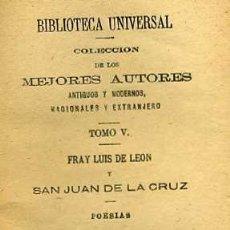 Libros antiguos: POESÍAS DE FRAY LUIS DE LEÓN Y SAN JUAN DE LA CRUZ (1923). Lote 29333981