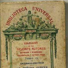 Libros antiguos: ERCKMANN-CHATRIAN : LA SEÑORA TERESA (1919). Lote 29334026