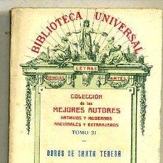 Libros antiguos: OBRAS DE SANTA TERESA (1927). Lote 29334095