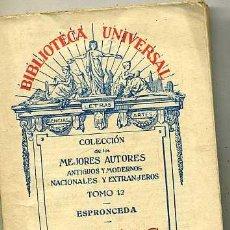 Libros antiguos: ESPRONCEDA . POESÍAS (1932). Lote 29334114