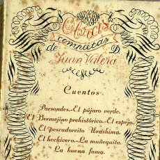 Libros antiguos: JUAN VALERA : CUENTOS (1907). Lote 29350303