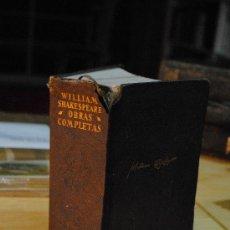 Libros antiguos: 1967.- AGUILAR. OBRAS COMPLETAS. WILLIAM SHAKESPEARE.. Lote 29379855