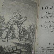 Libros antiguos: LES JOURNÉES AMUSANTES, MADAME DE GOMEZ, 1728. POSEE 4 GRABADOS. Lote 29518395