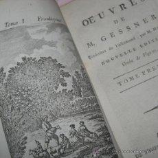 Libros antiguos: OEUVRES DE M. GESSNER (VOL.1), 1792. CONTIENE 4 GRABADOS. Lote 29518659