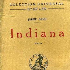 Libros antiguos: JORGE SAND : INDIANA (CALPE, 1923). Lote 29544661