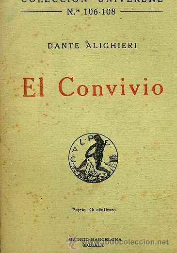 Dante Alighieri El Convivio Calpe 1919 Comprar
