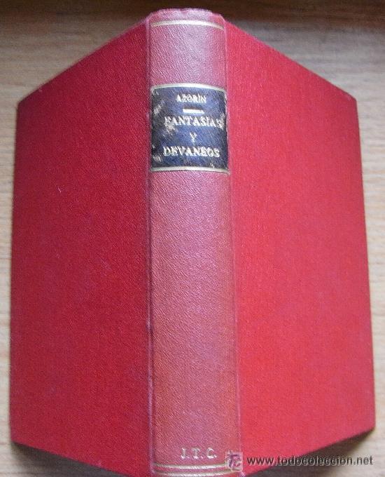 Libros antiguos: AZORIN - FANTASIAS Y DEVANEOS - CARO RAGGIO, 1920 - Foto 3 - 29637026