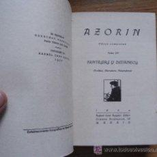 Libros antiguos: AZORIN - FANTASIAS Y DEVANEOS - CARO RAGGIO, 1920. Lote 29637026