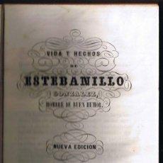 Libros antiguos: VIDA Y HECHOS DE ESTEBANILLO GONZÁLEZ, HOMBRE DE BUEN HUMOR - MADRID 1844 - CONTIENE 16 LÁMINAS. Lote 30274408