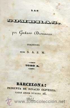 Libros antiguos: GUSTAVO DROUMEAU : LAS SOMBRAS (1844) - Foto 2 - 30289043
