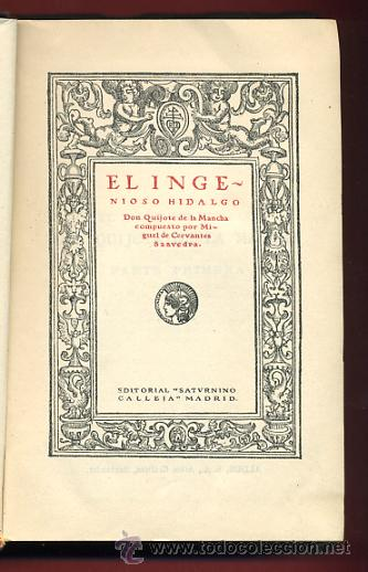 Libros antiguos: LIBRO, DON QUIJOTE DE LA MANCHA, EDITORIAL CALLEJA , ORIGINAL - Foto 2 - 30358814