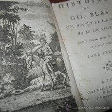 Libros antiguos: HISTOIRE DE GIL DE BLAS DE SANTILLANE (VOL.I), LE SAGE, 1790. CONTIENE 11 GRABADOS. Lote 30593111