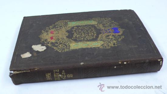 DON QUIJOTE, TOMO SEGUNDO. 1857. ILUSTRADA CON NOTAS DE PELLICER, CLEMENCÍN Y OTROS. 20X13 CM. (Libros antiguos (hasta 1936), raros y curiosos - Literatura - Narrativa - Clásicos)