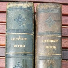 Libros antiguos: LOS MISTERIOS DE PARIS, MR. EUGENIO SUE, DOS TOMOS.OBRA COMPLETA. MADRID, 1869.. Lote 31581145