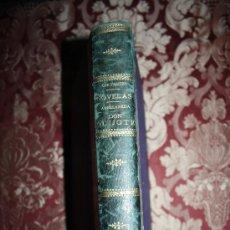 Libros antiguos: 0720- CONJUNTO DE 8 NOVELAS DE CERVANTES Y LA 2ª PARTE DEL QUIJOTE DE AVELLANEDA S XIX ENCUADERNADO. Lote 31664110