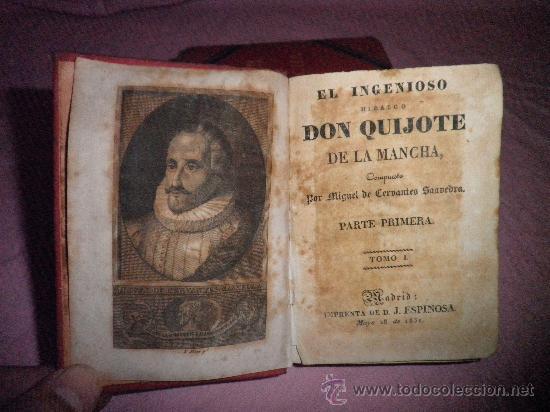 Libros antiguos: DON QUIJOTE DE LA MANCHA - CERVANTES - AÑO 1831 - BELLOS GRABADOS DE EPOCA. - Foto 3 - 31678302