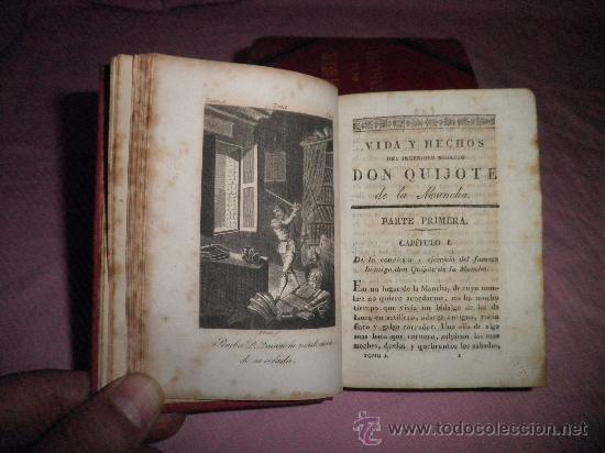 Libros antiguos: DON QUIJOTE DE LA MANCHA - CERVANTES - AÑO 1831 - BELLOS GRABADOS DE EPOCA. - Foto 4 - 31678302