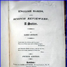 Libros antiguos: AÑO 1810: LORD BYRON: ENGLISH BARDS.. Lote 31871916