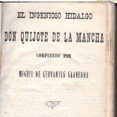 Libros antiguos: EL INGENIOSO HIDALGO DON QUIJOTE DE LA MANCHA, MIGUEL CERVANTES, ALEU, MADRID 1915. Lote 109047234