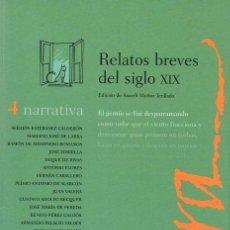 Libros antiguos: RELATOS BREVES DEL SIGLO XIX. Lote 158816292
