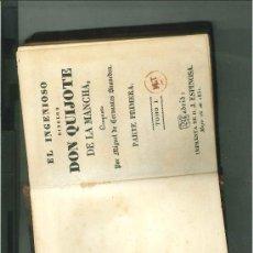 Libros antiguos: EL INGENIOSO HIDALGO DON QUIJOTE DE LA MANCHA. PARTE PRIMERA TOMO I. MADRID, 1831.. Lote 34128091