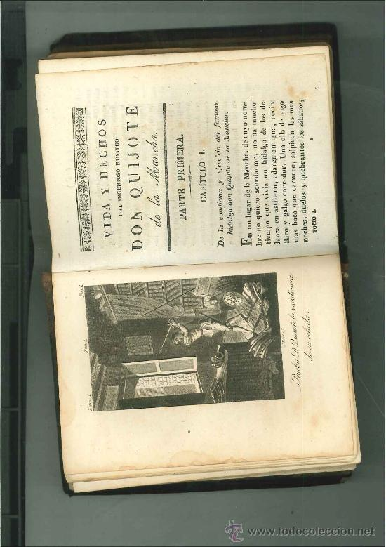 Libros antiguos: El ingenioso hidalgo Don Quijote de la Mancha. Parte Primera Tomo I. Madrid, 1831. - Foto 2 - 34128091