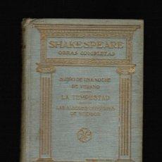 Libros antiguos: SHAKESPEARE. OBRAS COMPLETAS TOMO 8 - PROMETEO. Lote 33547448