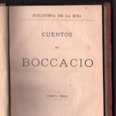 Livres anciens: 1876 - CUENTOS DE BOCCACCIO - EL DECAMERON - CUARTA SERIE. Lote 34320479