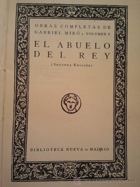 Libros antiguos: Obras Completas de Gabriel Miró. Biblioteca Nueva Madrid 1928. - Foto 2 - 34506693