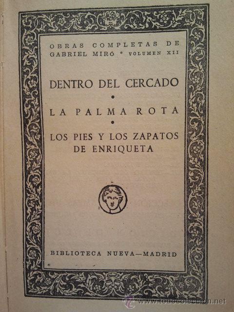 Libros antiguos: Obras Completas de Gabriel Miró. Biblioteca Nueva Madrid 1928. - Foto 4 - 34506693