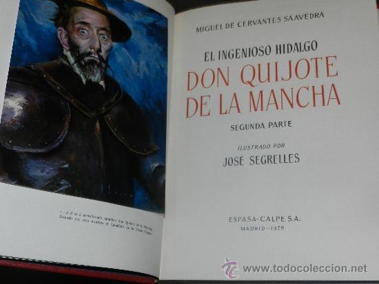 Libros antiguos: (M-2.4) DON QUIJOTE DE LA MANCHA, MIGUEL DE CERVANTES SAAVEDRA, ILUSTRADO POR JOSE SEGRELLES, 1979, - Foto 7 - 34631653