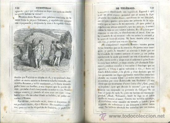 Libros antiguos: FENELON : AVENTURAS DE TELÉMACO SEGUIDAS DE LAS DE ARISTONOO (VALENCIA, 1843) ABUNDANTES GRABADOS - Foto 2 - 48213244