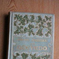 Libros antiguos: OBRAS JOCOSAS DE QUEVEDO. QUEVEDO (FRANCISCO DE). Lote 34921086