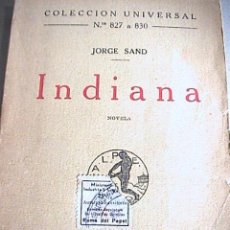 Old books - indiana . Jorge Sand - 35175262