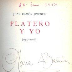 Libros antiguos: JUAN RAMON JIMÉNEZ. PLATERO Y YO (1907-1916). MADRID, SIGNO, 1934.. Lote 35369007