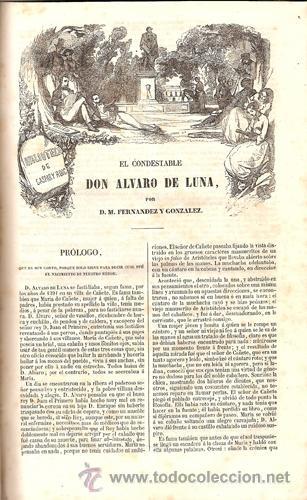 Libros antiguos: EL CONDESTABLE D. ÁLVARO DE LUNA – LA CASA BLANCA – Año 1851 - Foto 3 - 35637639