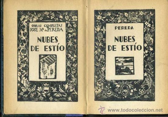 Libros antiguos: PEREDA : NUBES DE ESTÍO (AGUILAR) - Foto 2 - 35703534