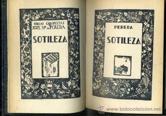 Libros antiguos: PEREDA : SOTILEZA (AGUILAR) - Foto 2 - 35703575