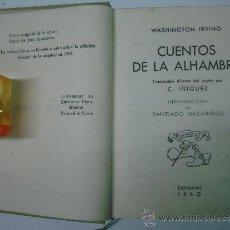 Libros antiguos: CUENTOS DE LA ALHAMBRA. W. IRVING. FACSÍMIL DE LA EDICIÓN ORIGINAL DE 1832. 1914.. Lote 35847467