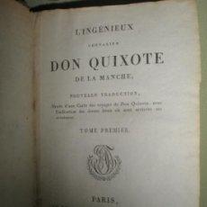 Libros antiguos: CERVANTES SAAVEDRA, M.: L´INGÉNIEUX CHEVALIER DON QUIXOTE DE LA MANCHE. Lote 36201645