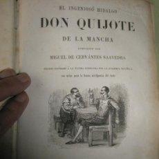 Libros antiguos: CERVANTES SAAVEDRA, M.:EL INGENIOSO HIDALGO DON QUIJOTE DE LA MANCHA. Lote 36205474