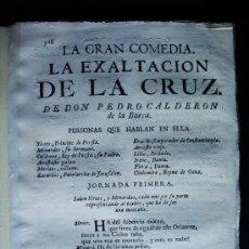 Libros antiguos: 1763-LA EXALTACIÓN DE LA CRUZ.COMEDIA.PEDRO CALDERÓN DE LA BARCA.IMPRENTA INQUISICIÓ. Lote 36559367