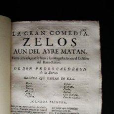 Libros antiguos: 1763-ZELOS, AÚN DEL AYRE MATAN.COMEDIA.PEDRO CALDERÓN DE LA BARCA.IMPRENTA INQUISICIÓN.MADRID.. Lote 36559827