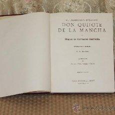 Libros antiguos: 2913-EL INGENIOSO HIDALGO DON QUIJOTE DE LA MANCHA. M. CERVANTES. EDIT SEGUI. S/F.. Lote 36651330