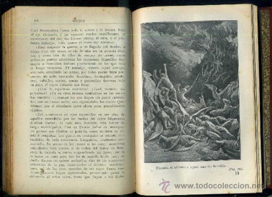 Libros antiguos: MILTON : EL PARAÍSO PERDIDO (MAUCCI, c. 1920) ILUSTRACIONES DE DORÉ - Foto 2 - 36818283