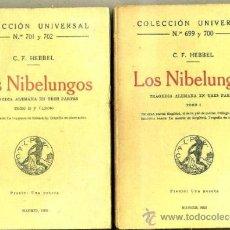 Old books - HEBBEL : LOS NIBELUNGOS - DOS TOMOS (CALPE, 1922) - 39467625