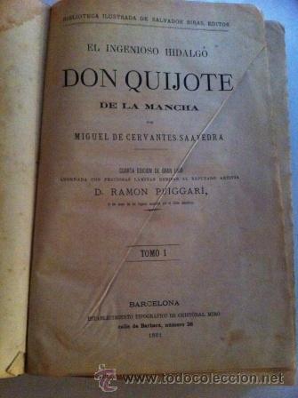 QUIJOTE DE LA MANCHA (1881) (Libros antiguos (hasta 1936), raros y curiosos - Literatura - Narrativa - Clásicos)