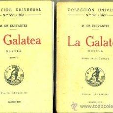 Old books - CERVANTES : LA GALATEA - DOS TOMOS (CALPE, 1922) - 70281495