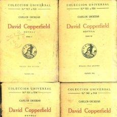 Libros antiguos: DICKENS : DAVID COPPERFIELD - CUATRO TOMOS (CALPE, 1924). Lote 36923481