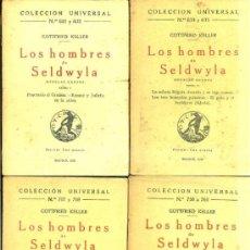 Libros antiguos: GOTTFRIED KELLER : LOS HOMBRES DE SELDWYLA - CUATRO TOMOS (CALPE, 1922). Lote 36923649